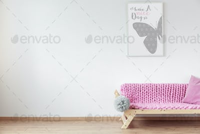 Wall with poster