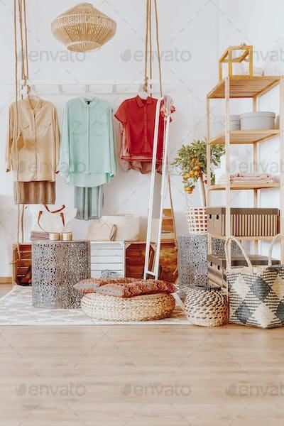 Creative modern wardrobe