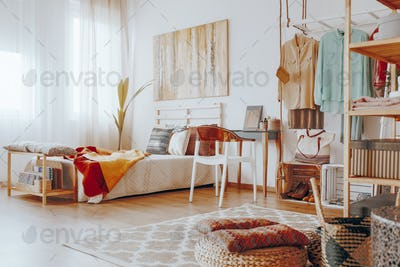 Stylish boho bedroom