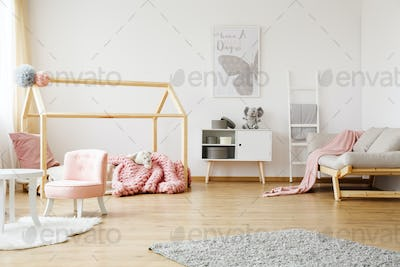Fully furnished girl's room