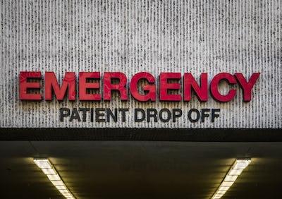 Hospital ER Drop Off Sign