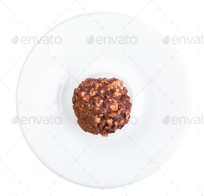 Delicious chocolate candy with nuts.