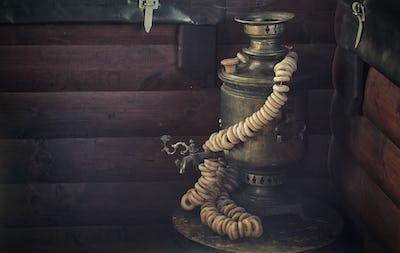 Russian national teapot - samovar
