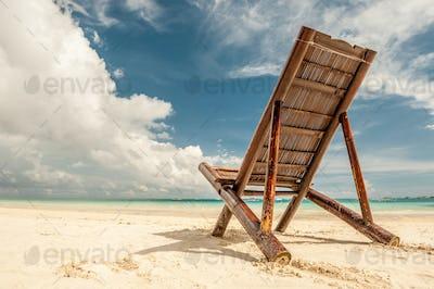 Beach chair at Boracay, Philippines