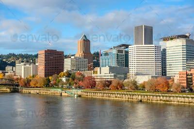 Portland city skyline