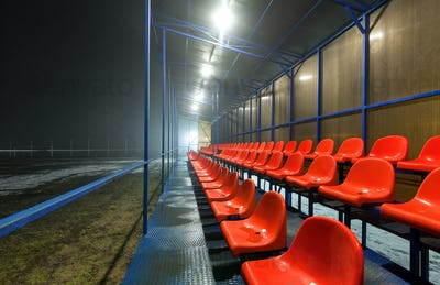 Empty tribune