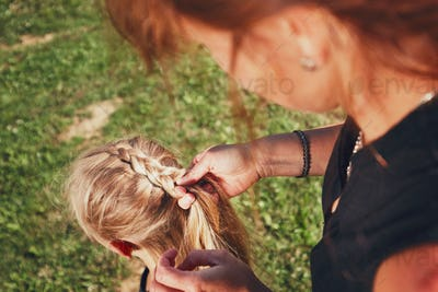 Girl with hair braids