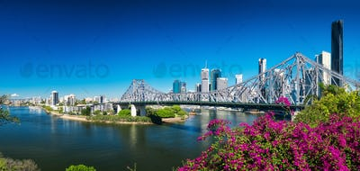 Panoramic view of Brisbane Skylin