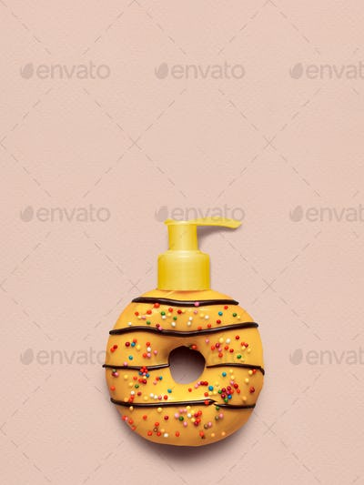 Donut with dispenser.