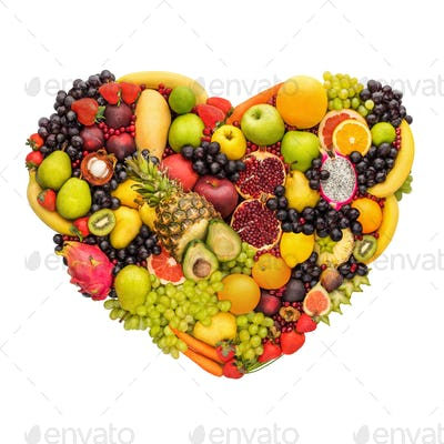 Healthy fruity heart.