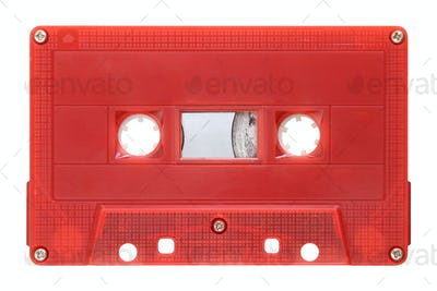 Red audio cassette