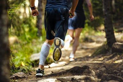 Male Marathon Runner Running Woods