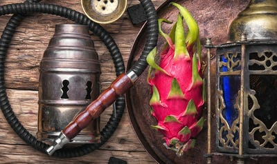 exotic shisha hookah with pitahaya