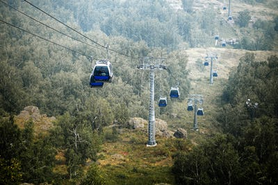 Cable Car Mountains in Summer