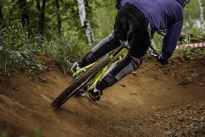 Male Athlete Mountain Biker