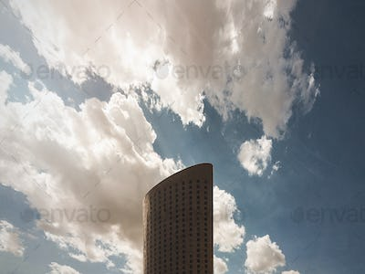 Building and Clouds