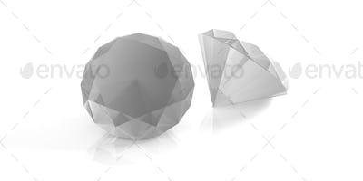 Diamonds isolated on white. 3d illustration