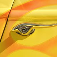 yellow door lever