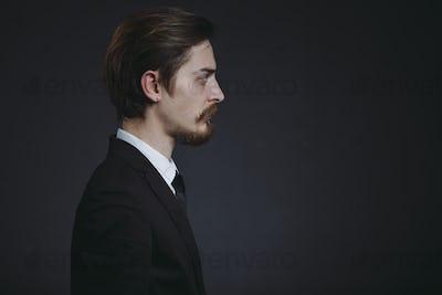 Handsome bearded stylish business man