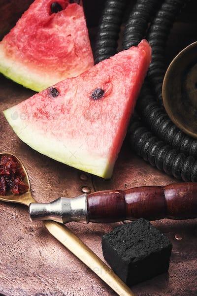 shisha hookah with watermelon