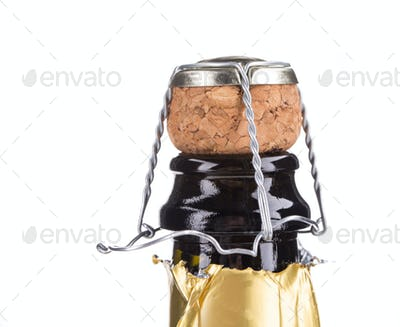 Top of champagne bottle.