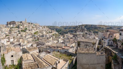 Panoramic view of the Sassi of Matera