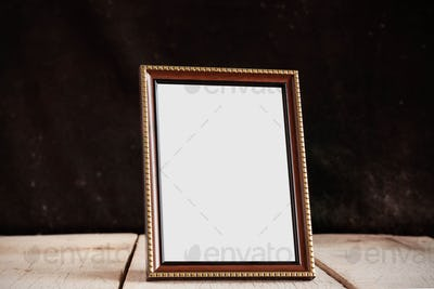 frames on the old wooden