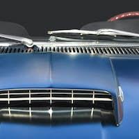 muscle car closeup