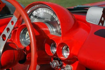 sports-car dashboard