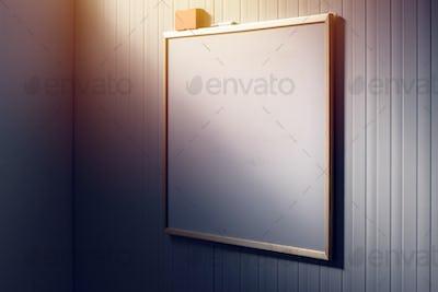 Blank whiteboard in the office, white board as copy space
