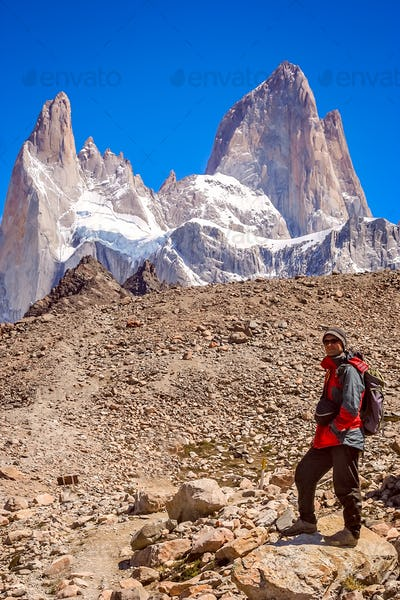 At the foot of Mount Fitz Roy