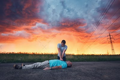 Dramatic resuscitation during storm