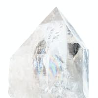 rock crystal isolated on white