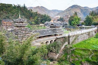 view of Chengyang Wind and Rain Bridge