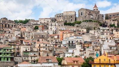 cityscape of Castiglione di Sicilia town in Sicily
