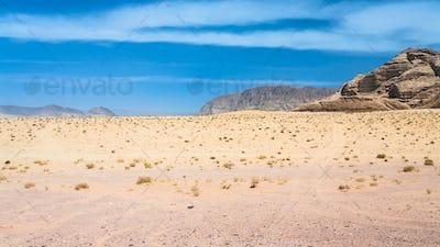 landscape of Wadi Rum desert