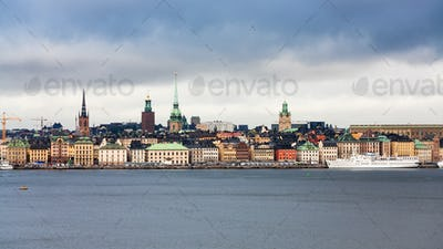 panoramic view of center of Stockholm city
