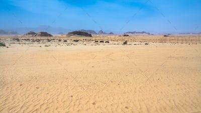 sand surface of Wadi Rum desert