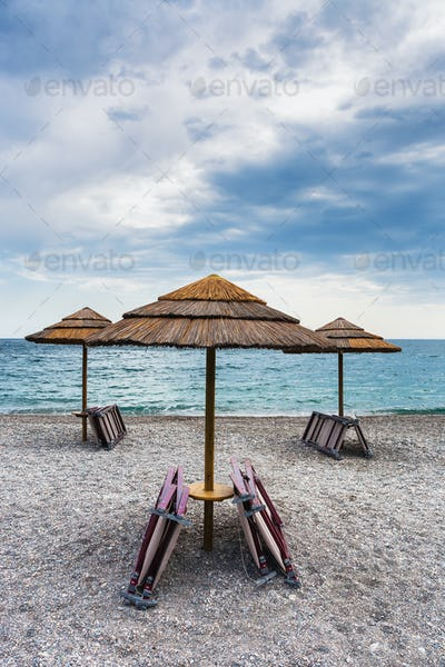 empty beach Marina di Cottone on Ionian sea