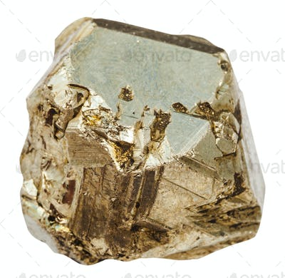 piece of pyrite stone isolated