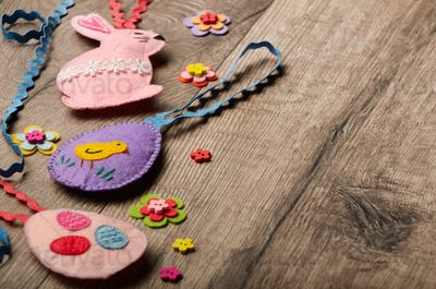 Easter bunny and egg patchwork