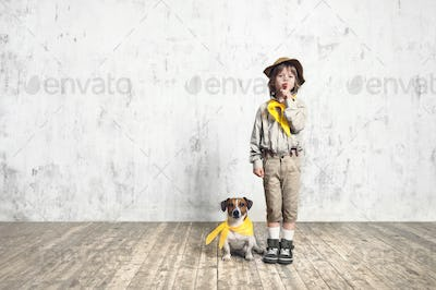 Scout with dog