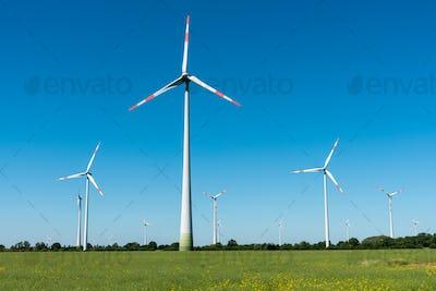 Wind power generators in Germany