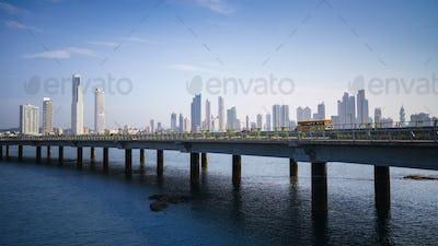 Panorama Panama City Skyline Building Car