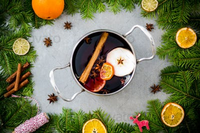 Christmas warming mulled wine