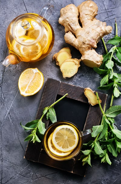 ginger, mint and tea