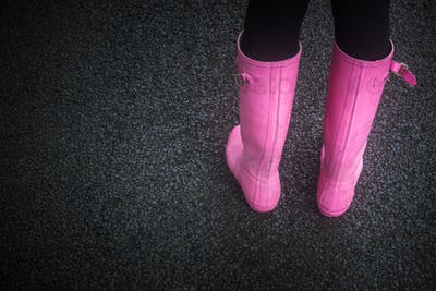 Pink Rubber Boots