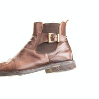 Stylish old chelsea leather boots.