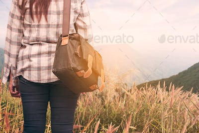 girl with a nature trip