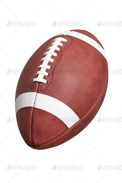 College Style Football Isolated on White Background